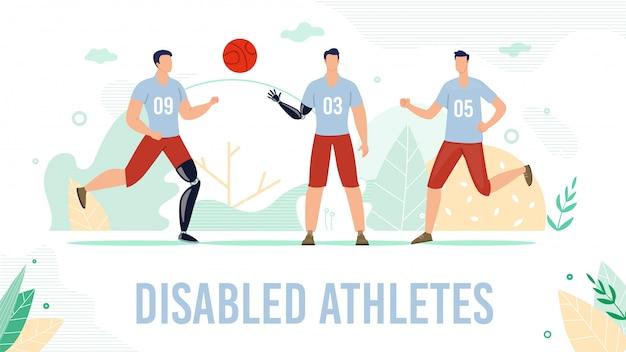 Prothèse pour athlète handicapé