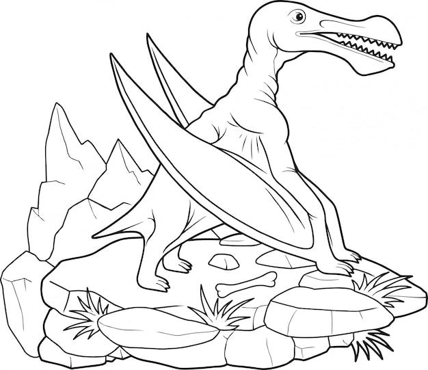 Ptérosaure de dinosaure