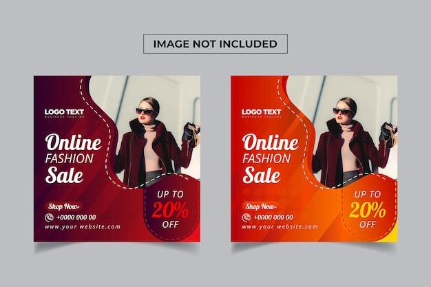 Publication de bannière de médias sociaux de mode en ligne
