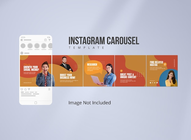 Publication du carrousel instagram pour la stratégie commerciale