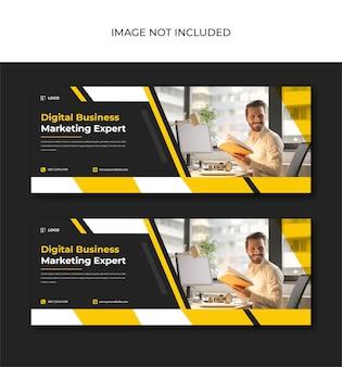 Publication d'entreprise de marketing numérique pour les médias sociaux et la conception d'instagram