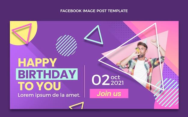 Publication facebook d'anniversaire en demi-teinte dégradé