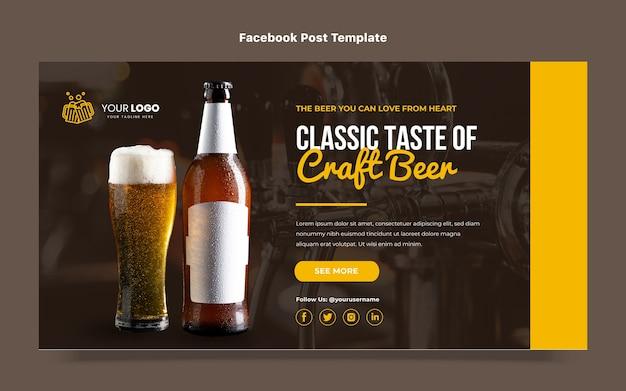 Publication facebook de bière artisanale au design plat