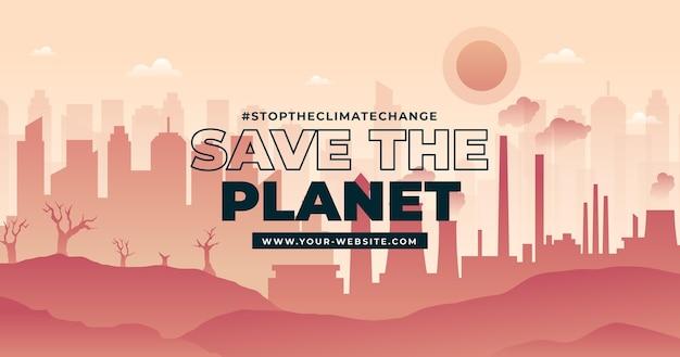 Publication facebook sur le changement climatique en dégradé