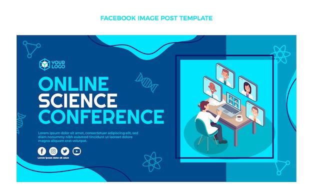 Publication facebook de la conférence scientifique sur le design plat