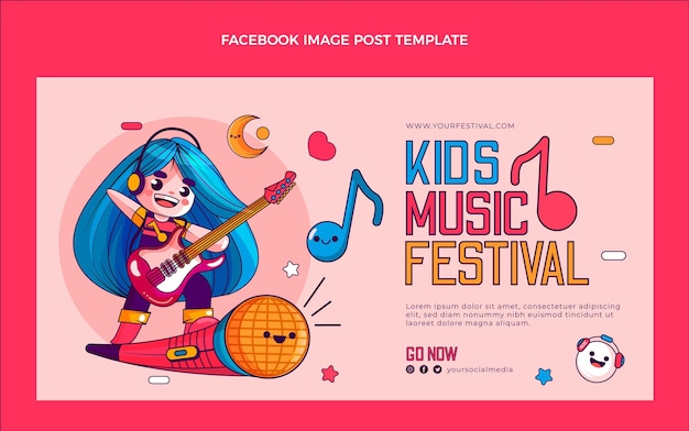 Publication facebook du festival de musique dessiné à la main