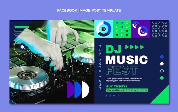 Publication facebook du festival de musique en mosaïque plate