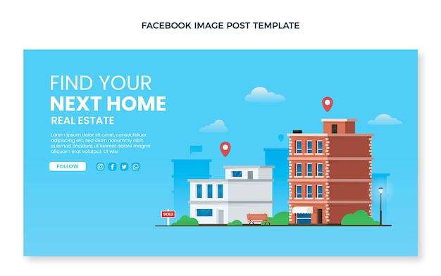 Publication facebook de l'immobilier dégradé