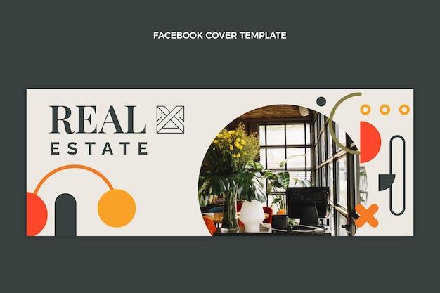 Publication facebook de l'immobilier géométrique abstrait
