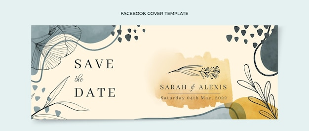 Publication facebook de mariage aquarelle