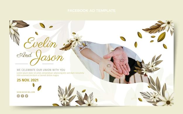 Publication facebook de mariage boho aquarelle