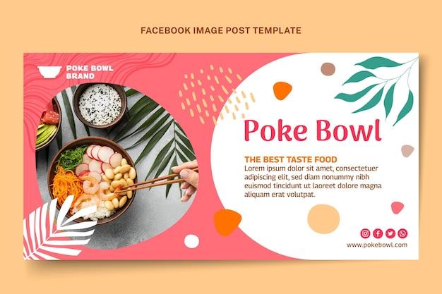 Publication facebook de nourriture design plat