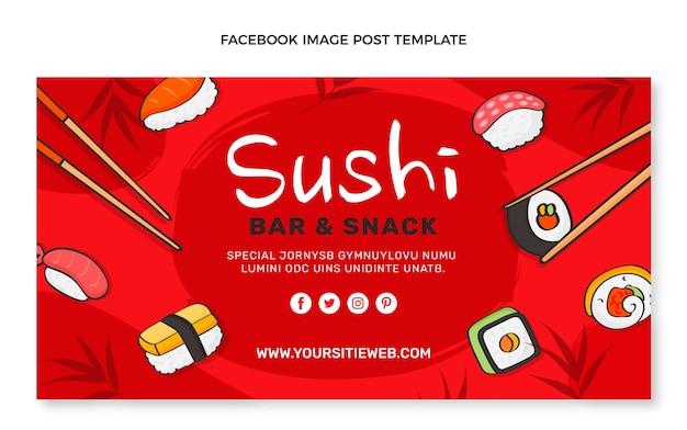 Publication facebook de nourriture dessinée à la main
