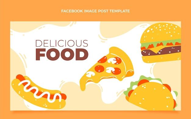 Publication facebook de nourriture plate