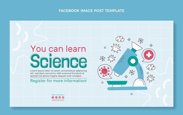 Publication facebook scientifique dessinée à la main