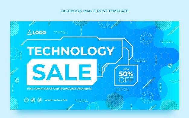 Publication facebook de la technologie abstraite dégradée