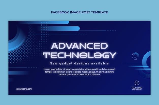 Publication facebook de la technologie des demi-teintes dégradées