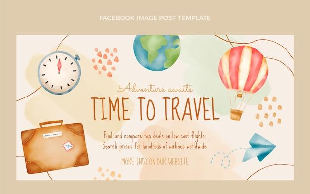 Publication facebook de voyage aquarelle