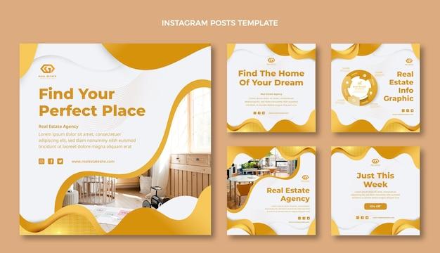 Publication instagram de l'immobilier à texture dégradée