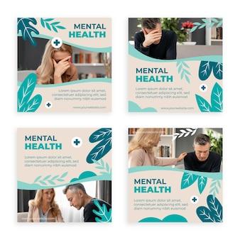Publication instagram sur la santé mentale avec photo