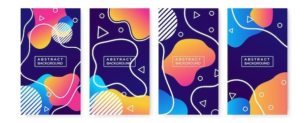 Publication d'instagram de vente plate ou collection d'histoires. vente dégradée