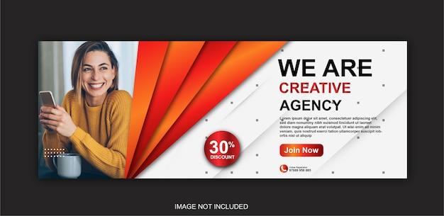 Publication de médias sociaux et bannière web pour le marketing d'entreprise numérique