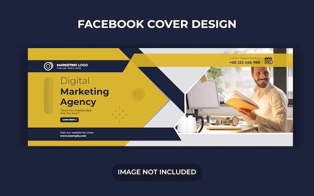 Publication de médias sociaux de marketing numérique et conception de bannière ou de dépliant web