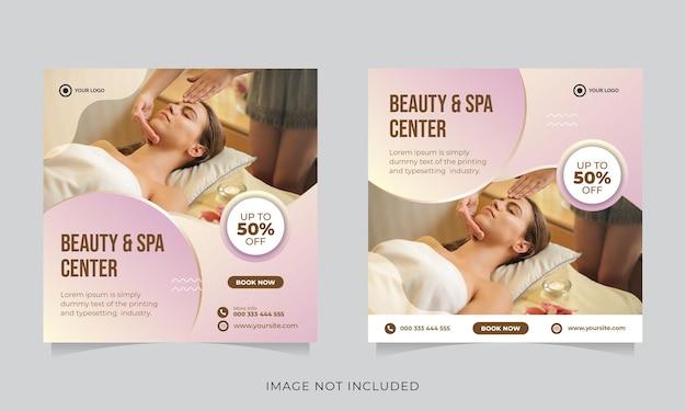 Publication sur les médias sociaux de la promotion de la beauté et du spa