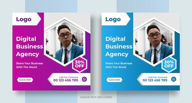 Publication de médias sociaux de promotion de marketing d'entreprise créative conception de bannières web numériques