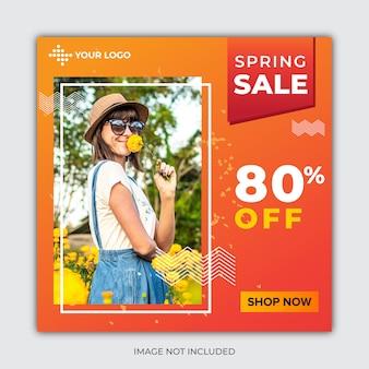 Publication des médias sociaux de la vente de printemps