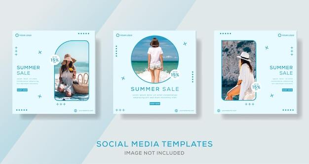 Publication de modèle de bannière de vente d'été