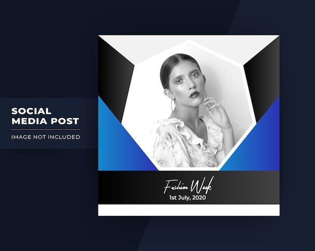 Publication promotionnelle sur les médias sociaux pour instagram