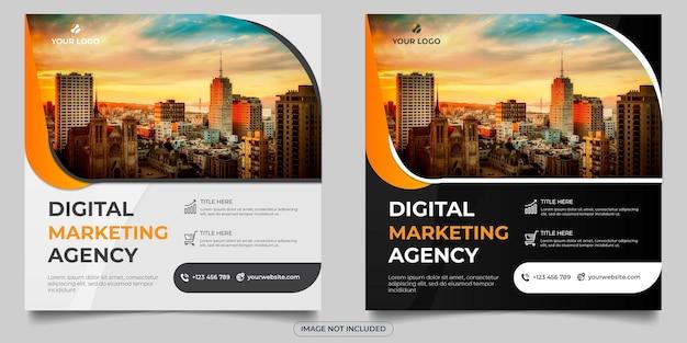 Publication sur les réseaux sociaux d'une agence de marketing numérique