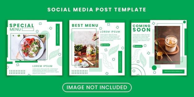 Publication sur les réseaux sociaux d'aliments sains