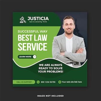 Publication sur les réseaux sociaux du cabinet d'avocats et service de consultation juridique publication instagram