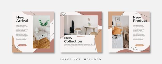 Publication sur les réseaux sociaux de meubles modernes minimalistes