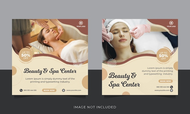 Publication sur les réseaux sociaux de promotion de la beauté et du spa