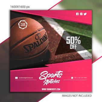Publication de sport basketball pour réseau social