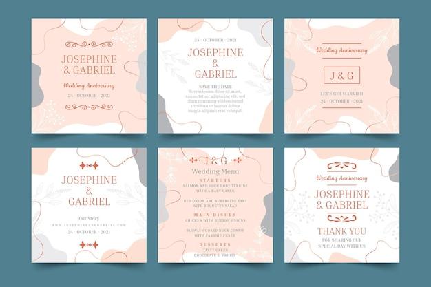Publications instagram d'anniversaire de mariage