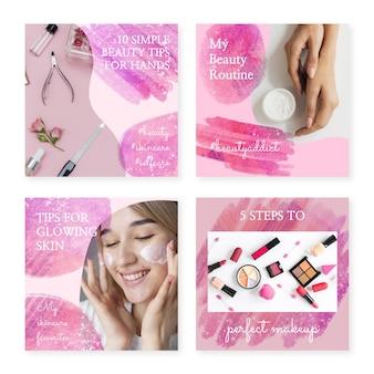 Publications instagram aquarelles abstraites avec photo