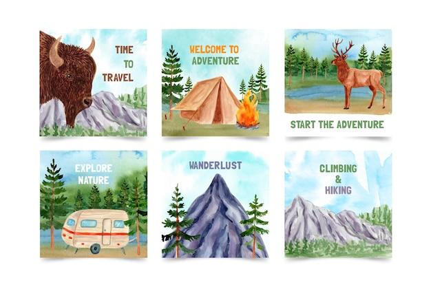 Publications instagram de l'aventure aquarelle