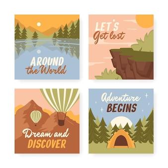 Publications instagram d'aventure dessinées à la main