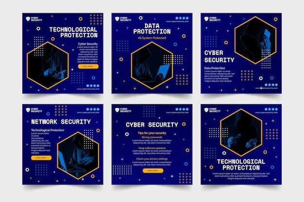 Publications instagram de cybersécurité