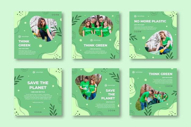 Publications instagram de l'environnement