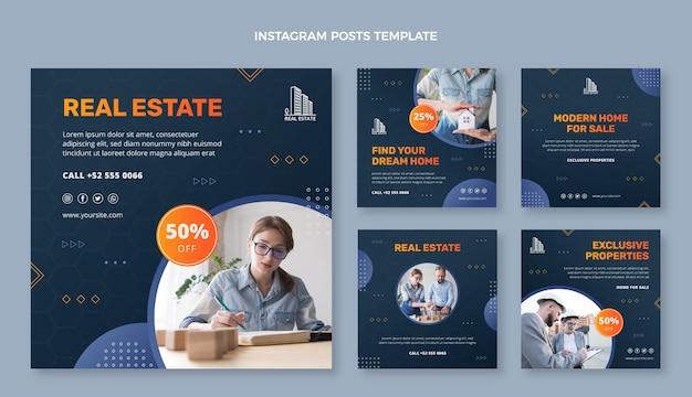 Publications instagram de l'immobilier dégradé