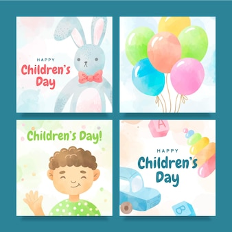 Publications instagram de la journée des enfants