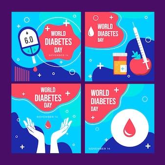 Publications instagram de la journée mondiale du diabète