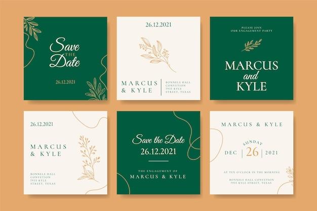Publications instagram de mariage minimales