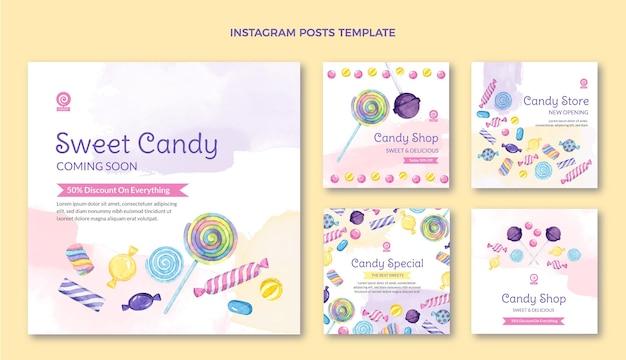 Publications instagram de nourriture aquarelle