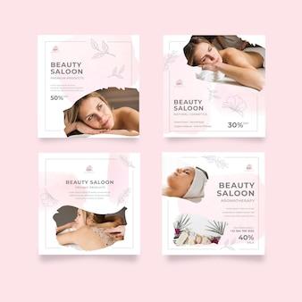 Publications instagram d'un salon de beauté